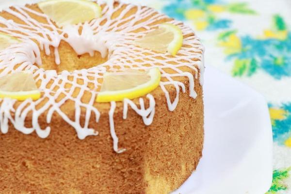 レモンシフォンケーキを作りました