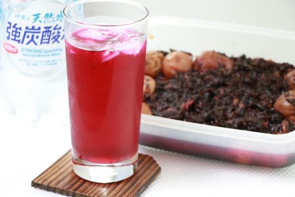 赤紫蘇ジュース作り